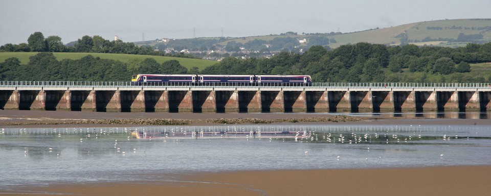 Leven Viaduct, Morecombe Bay
