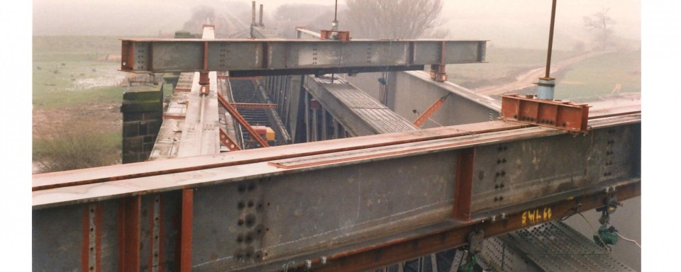 Gantries Supported by New Girders to Remove Old