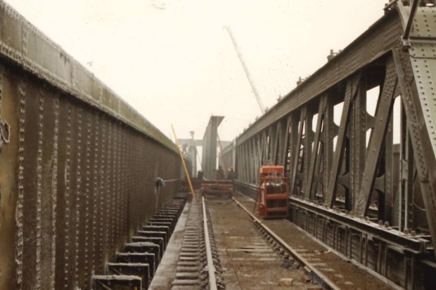 New Bridge Girders Delivered by Rail